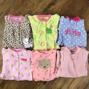 Carter's Footie Pajamas Baby Girl Bundle